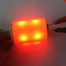 360度发光圆柱cob光源四色红蓝绿白cob光源自行车尾灯