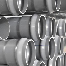 PVC-U国标给水管灰色pvc管材塑料聚氯乙烯管材厂家直销图片