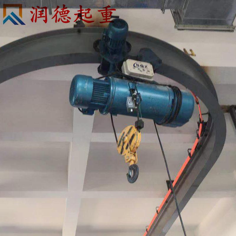 1吨喷砂房价格自行小车弯道电动环链葫芦厂家