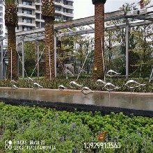 镜面彩色不锈钢鱼雕塑广场水景雕塑摆件