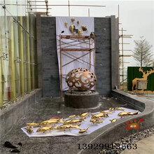 镜面仿真不锈钢锦鲤鱼雕塑广场创意背景墙雕塑抽象不锈钢鱼雕塑