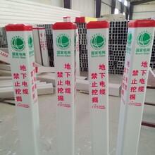 玻璃鋼供水電纜標志樁農田保護界樁國家電網專用PVC警示樁圖片