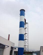 浩凯加工定做整体缠绕玻璃钢烟囱—燃煤电厂玻璃钢烟囱图片