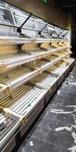 东莞新款钱大妈生鲜货架/钢木蔬菜水果架/东莞货架批发/东莞哪里有卖猪肉台/收银台
