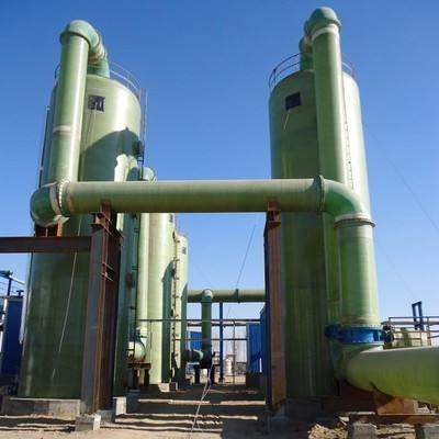 烟气玻璃钢脱硫塔玻璃钢脱硫塔酸雾净化塔废气吸收塔