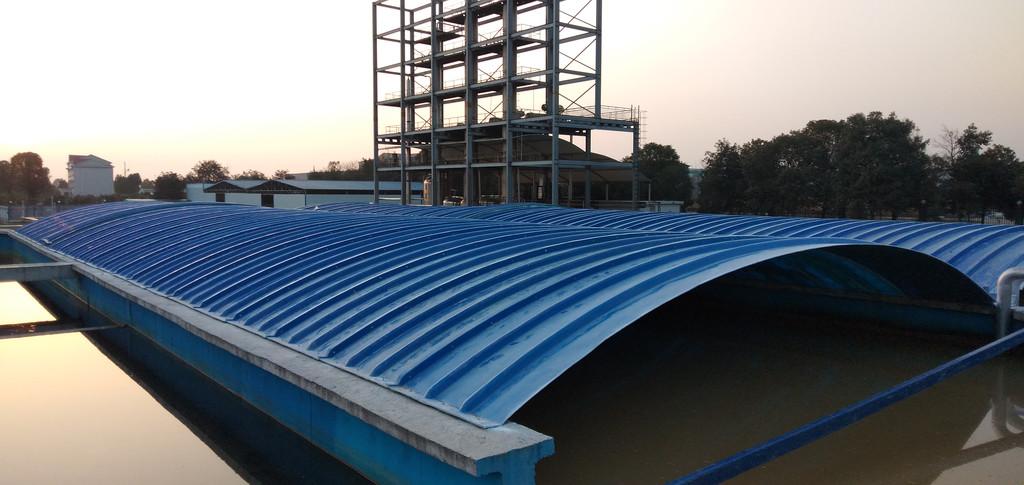铜仁污水池搭接盖板/玻璃钢拱形盖板安装流程