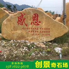 出售天然園林石房地產刻字石學校文化石觀景黃臘石