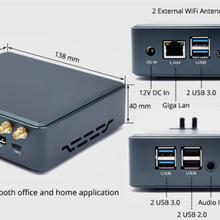 工廠直銷迷你電腦i3i5i7迷你主機辦公教學miniPC臺式電腦主機批發圖片