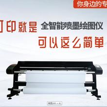 研毅科技直銷紙樣打印機制版噴墨機雙噴服裝CAD繪圖機圖片
