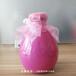 廠家生產定制精美白酒壇子酒瓶500ml粉色玻璃壇子空酒瓶彩色瓶