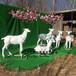动物雕塑作品蝴蝶鹿几何块面动物厂家直销可来图样定制