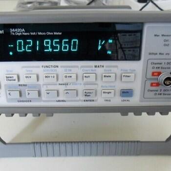 Agilent銷售二手安捷倫34420A數字萬用表七位半