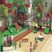 樹屋滑梯兒童木屋兒童滑梯樹屋幼兒園游樂設施原生態木質拓展景區公園度假村