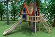 幼兒園滑滑梯兒童游樂設施設備攀爬網攀爬架木質組合滑梯源頭廠家