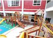幼兒園戶外滑滑梯秋千木質滑梯攀爬網木質拓展感統訓練游樂設備