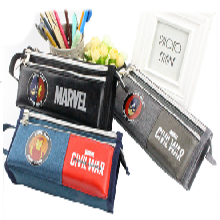 男生帆布大容量多层儿童铅笔盒韩国创意简约男女大学生初中生小清新文具盒图片