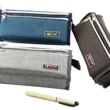 韩国小清新简约笔袋女初高中学生用大容量PU皮铅笔袋创意男文具袋图片