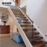 供应家装钢木结构玻璃护栏直梁楼梯家装楼梯专业生产厂家制作安装大小家装工程楼梯