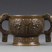 古董青銅銅盆免費鑒定快速出手交易圖片