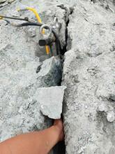榕江墙体拆除致裂硬石头劈裂机快速破开拆除方法图片