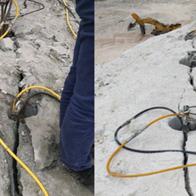 龙湾区矿用坚硬岩石致裂成本低的开石方案快速分裂图片