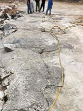 锦江区土石方硬石头开采开石机大型分石机械施工现场图片