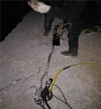 天峨破碎岩石的液压机器叫什么劈石机堪比放炮图片