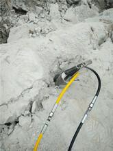 双流地下室基础商场建设岩石拆除分裂设备靠谱图片