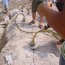 澄海石方工程拆除静态爆破劈裂机采石成本图片