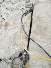 宿迁哪个厂家什么牌子的破石器分石机劈裂棒好产品质量图片