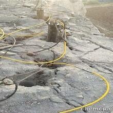 鄄城露天大壩開挖無聲破石機靜態效率高圖片