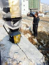 南芬洞采金属岩石破石机膨胀崩裂机图片