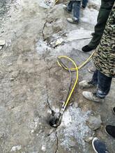 溆浦花岗岩矿山开采劈裂机图片