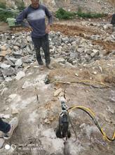 臨澤便攜式液壓巖石劈裂機圖片