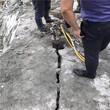 扶绥花岗岩道路修建开挖岩石劈裂机开山利器图片