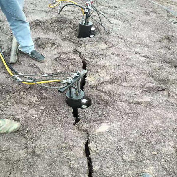罗甸修路不能放炮大型岩石破碎劈裂机