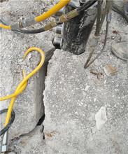 地基开挖赶工期石头太硬静态开石机价格图片