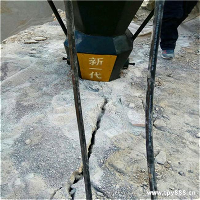 珠海地铁修建破石头风镐太慢用劈石机