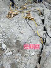 澄江矿山岩石破碎大型劈裂机效率高图片