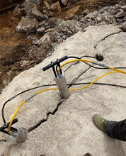 专破高硬度岩石液压机器无声分裂石头制造厂家图片