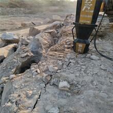 金门静态开采坚硬石头免放炮设备图片