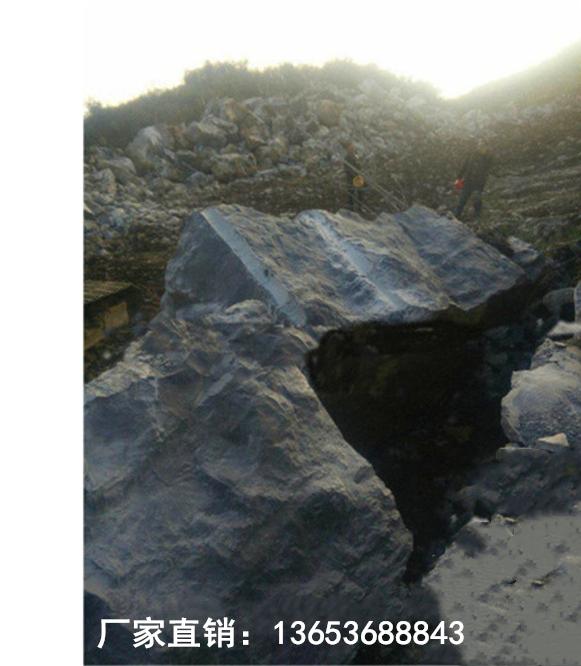琼海挖基坑硬石头道路边坡岩石清除分裂机