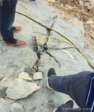 盐池不用爆破就能开采岩石劈裂机图片