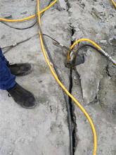 汕尾大型土石方开采液压分裂棒图片