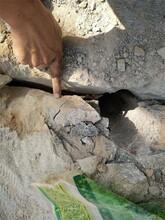 安徽蒙城土石方破石头液压柱塞式劈裂棒在线咨询图片