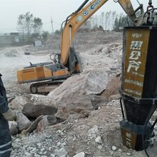 河北唐山露天开采石头分裂器施工快视频优图片