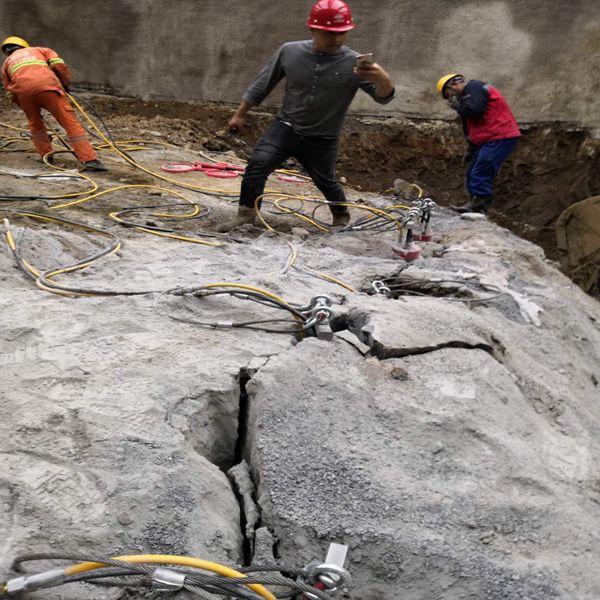 西双版纳岩石静态拆除劈石机效果好
