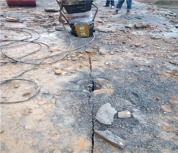 福建宁德土石方工程代替挖机凿石头爆破机适不适用
