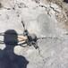 永定区小型露天采矿硬石头劈裂棒方法