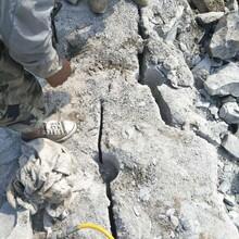 南皮劈裂机静态裂石设备劈石多少方图片